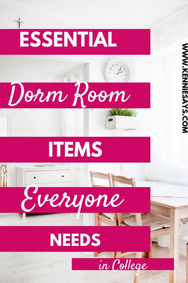 essential dorm room items that everyone needs to get when dorm shopping for college